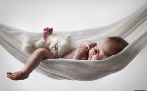 Sleeping-Baby-With-Cat