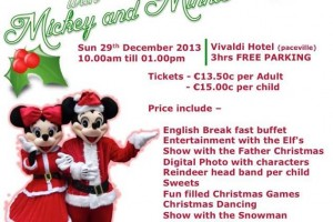 Breakfast with Mickey and Minnie 29th Dec 2013