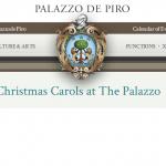 Christmas Carols at The Palazzo de Piro throughout December
