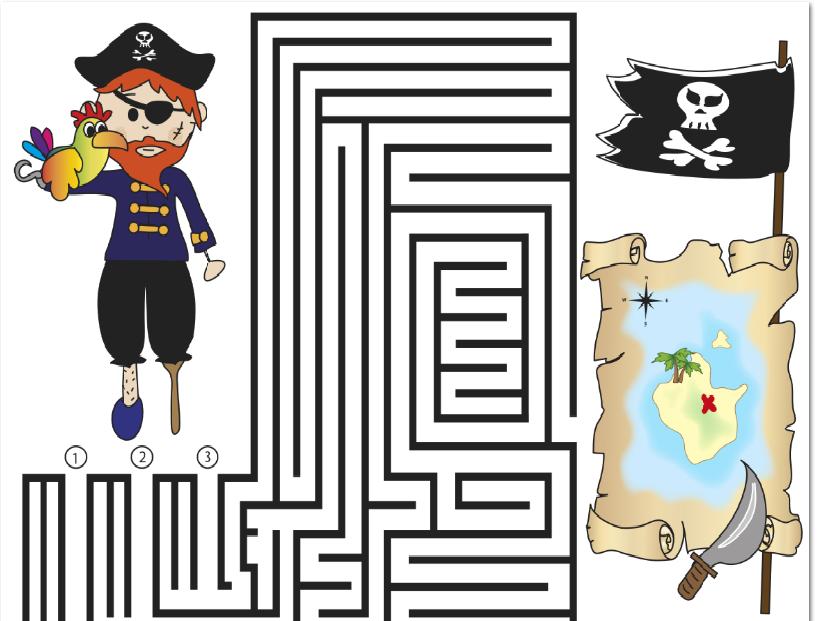 pirates maze