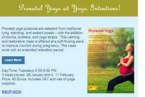 Prenatal Yoga classes in Malta