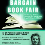 BARGAIN BOOK FAIR 26-31 March organised by The Salesians of Don Bosco