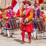 Ιn Guardia in Birgu, a Historical Re-Enactment of a Full 16th Century Military Parade