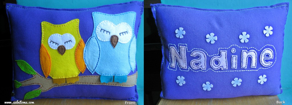 Felt creations - Personalized cushion