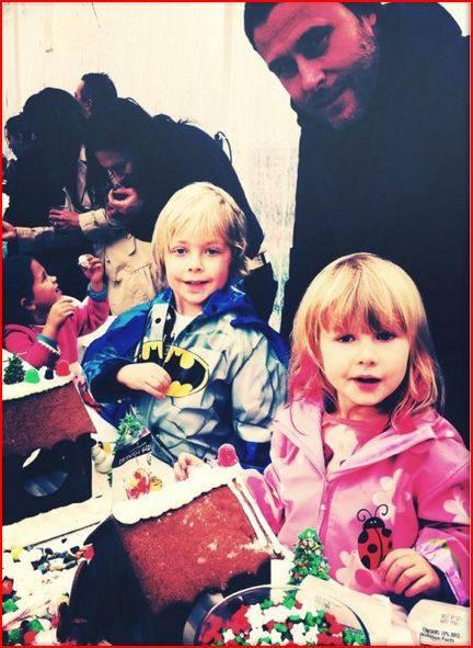 Tori Spelling and daughter Stella with Stephen Joseph Ladybug Rain Coat