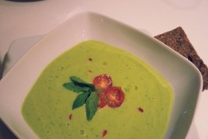Chilled avocado summer soup