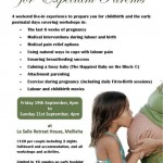 20 Euro off on a weekend retreat for expectant parents – 19-21 September