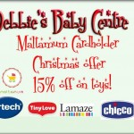 15% discount in December on Vtech, Fisher-Price, Chicco, Lamaze, Tiny Love and Leap Frog toys