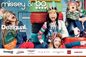Free Desigual umbrella and 10% discount on stylish clothing brands for kids at Missey & Bo