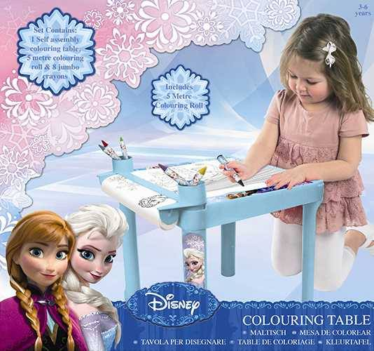 Disney Frozen Colouring Table with Colouring Roll and Jumbo Crayons