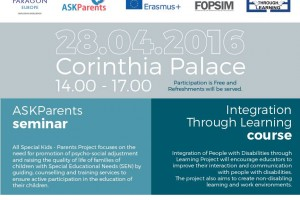 Free ASK-Parents Seminar & Integration Through Learning Course on 28 April 2016